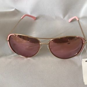 "$12 ""SALE"" New York & Co pink sunglasses"